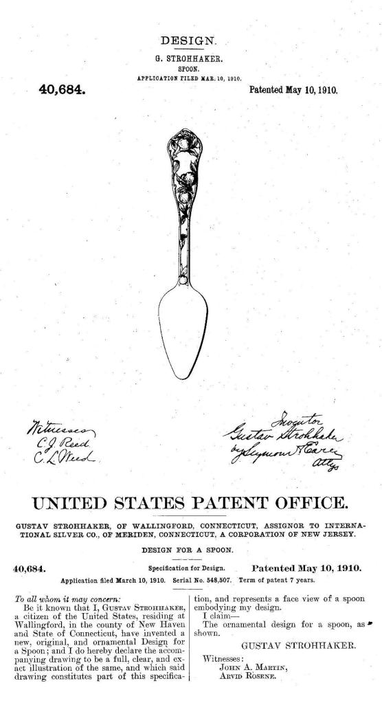 Strohhaker Patent No. 40684 May 10, 1910