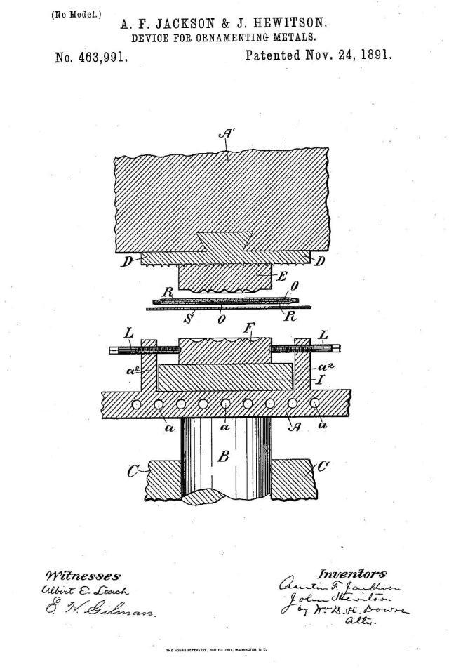 1891 Patent No. 463991