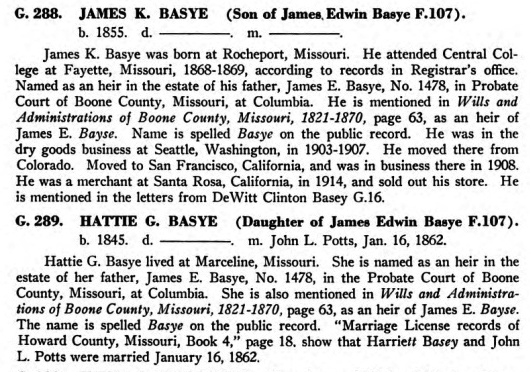 The Basye family in the United States, by Otto Basye 1950